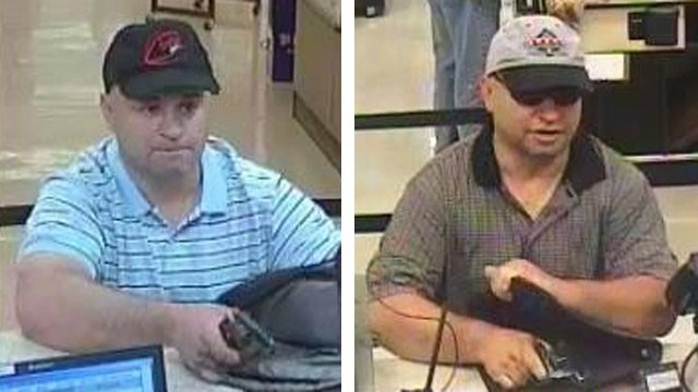 The same man is suspected in a pair of robberies at Wells Fargo branches in East Valley stores. (Source: CBS 5 News)