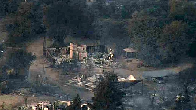 The Yarnell Hill Fire burned at least 50 homes in the town of Yarnell, as well as killing 19 Hotshot firefighters on Sunday. (Source: CBS 5 News)
