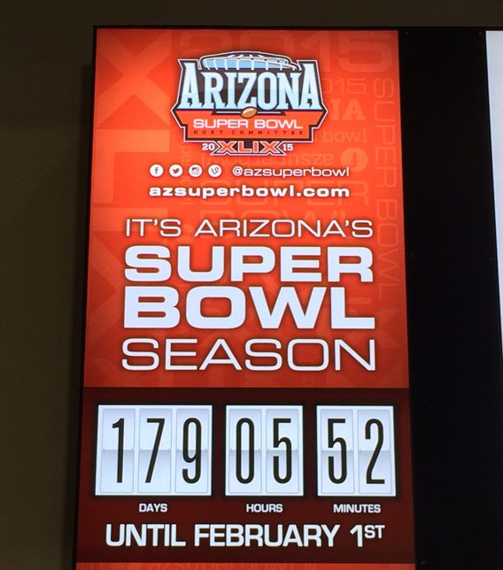 The countdown clock is illuminated on a 55-inch, high-definition LED screen. (Source: CBS 5 News)