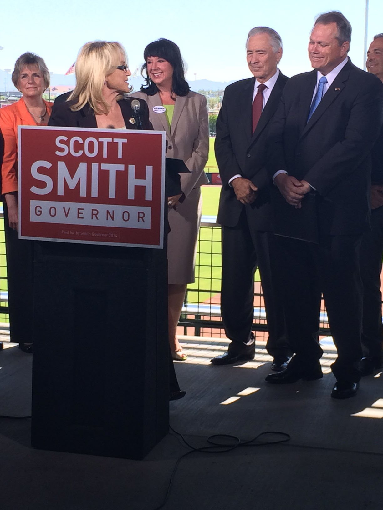 Gov. Jan Brewer officially endorsed Scott Smith in the Republican governor's race. (Source: CBS 5 News)