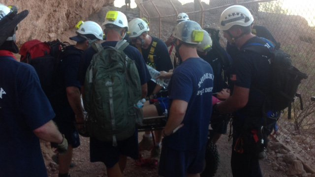 On Friday, two people rappelling down Camelback Mountain died. (Source: Phoenix Fire Department)
