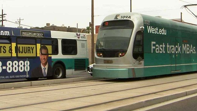 The city of Phoenix is looking to expand light rail and bus service. (Source: CBS 5 News)