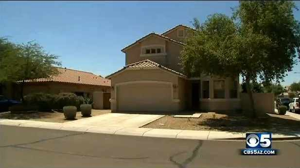 The $250,000 in Legos were found in this Peoria home. (Source: CBS 5 News)