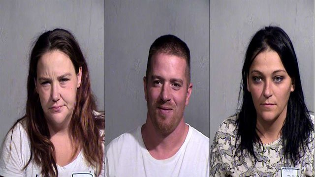 Melissa Dailey, 34, Garry Fairbee, 35,  and Tarah Dailey, 33