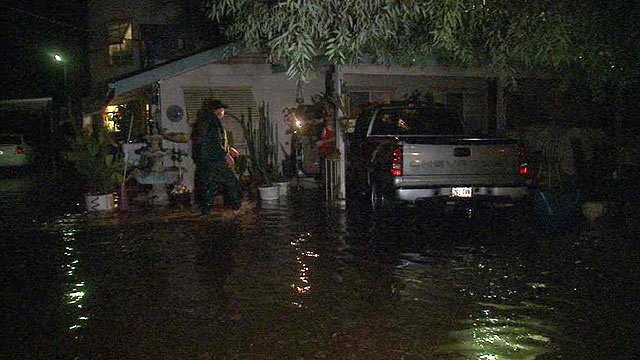 More than 1.5 inches of rain last week flooded several residences in Laveen. (Source: CBS 5 News)