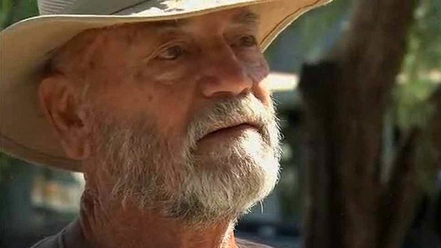 Charles Sanders helped move trailers during the evacuation, but lost some of his personal items to the floodwaters. (Source: CBS 5 News)