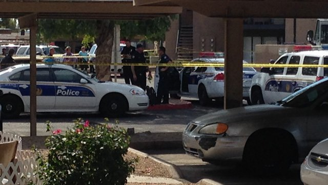 Officer-involved shooting in the 3800 block of N. Maryvale Pkwy. (Source: CBS 5 News, Sean Gates)