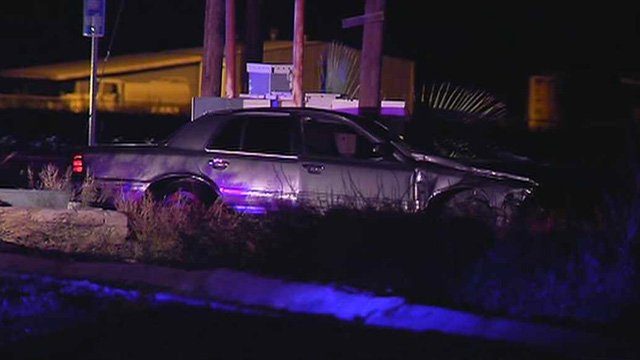 Witnesses told police the driver of this car was going about 60 mph when it blew through a stop sign and struck a minivan. (Source: CBS 5 News)