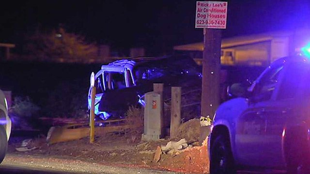 The woman riding in the van was killed after she was ejected and the van landed on top of her. (Source: CBS 5 News)