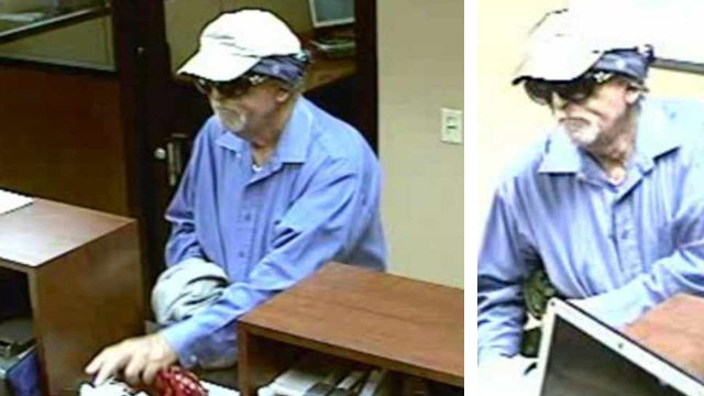The man walked into the Chase Bank at a Fry's grocery store at 4949 W. Ray Rd. about 2 p.m. and took an undisclosed amount of cash. (Source: Chandler Police Department)