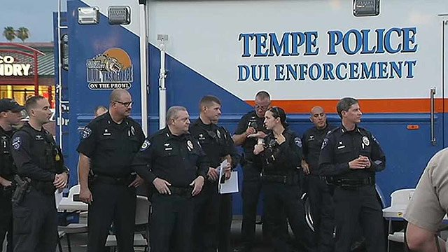 The Tempe Police Department is one of 15 different agencies that will take part in the 'Safe and Sober' campaign. (Source: CBS 5 News)