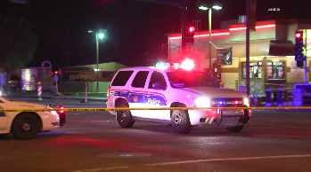 Officers and fire personnel administered first aid but the suspect died at the hospital. (Source: CBS 5 News)
