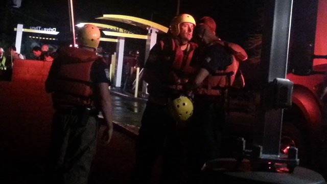 There was a water rescue in Wickenburg on  Monday night. (Source: Shawn Kline, cbs5az.com)
