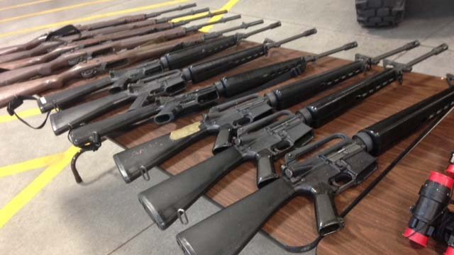 Some of the weapons that are being returned. (Source: CBS 5 News)