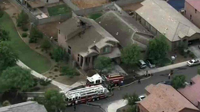 Firefighters extinguished the fire and hadn't determined the official cause. (Source: CBS 5 News)