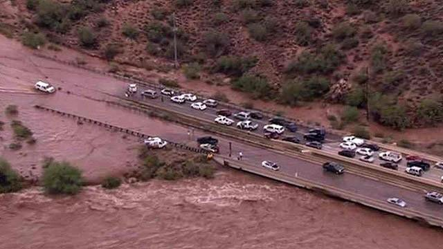 Maricopa County flooding  in August. (Source: CBS 5 News)