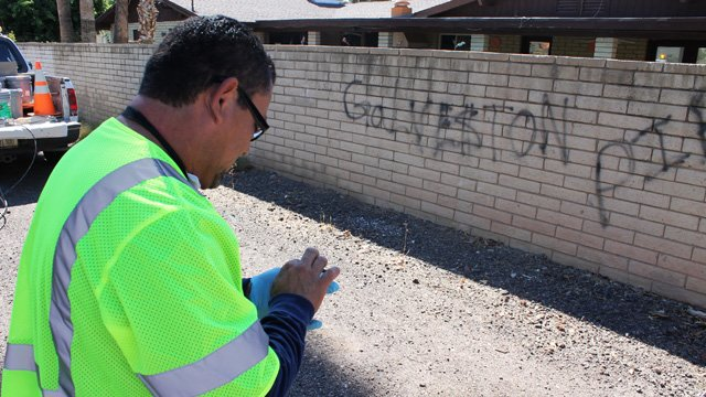 Sal Rodriguez enters location information, (Source: City of Chandler)