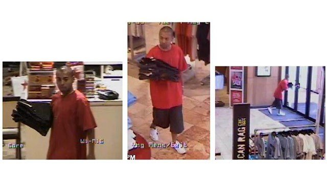 Mesa police are looking for this man they say stole numerous items from a Macy's store. (Source: Mesa Police Department)