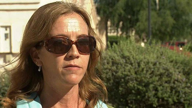 """""""We're still upside down in our house and we don't want to be forced into a new home we have to pay money up front. (We're) just hoping they'll at least pay off our existing loan,"""" resident Jennifer Laferriere said. (Source: CBS 5 News)"""