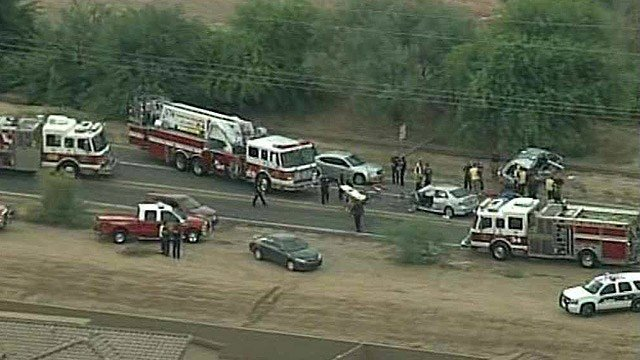 Three brothers were killed and several other of their siblings injured in this Monday morning crash near 59th Avenue and Southern Avenue. (Source: CBS 5 News)