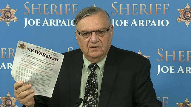 Maricopa County Sheriff Joe Arpaio says he's frustrated with the government and the illegal immigration system. (Source: CBS 5 News)