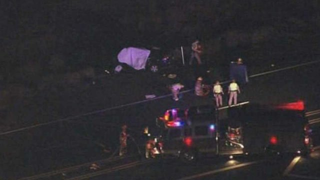 Two people died in this collision on State Route 87 near Fountain Hills on Tuesday. (Source: CBS 5 News)