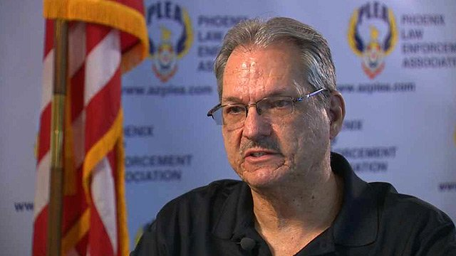 'We should have done a lot more for Officer Tiger, than what we did,' said Joe Clure, president of the Phoenix Law Enforcement Association. (Source: CBS 5 News)