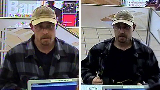 Surveillance photos of the suspect in the armed robbery of a Bank of America branch in Chandler. (Source: Chandler Police Department)