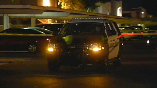 A woman was shot during an attempted robbery at this Tempe apartment complex early Wednesday morning. (Source: CBS 5 News)
