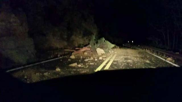 The Arizona Department of Transportation says crews removed some rocks and debris from State Route 89A. (Source: Yutamay Saphira)