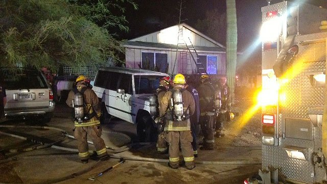 Phoenix firefighters put out an attic fire at this home early Friday morning. (Photo: Phoenix Fire Department)