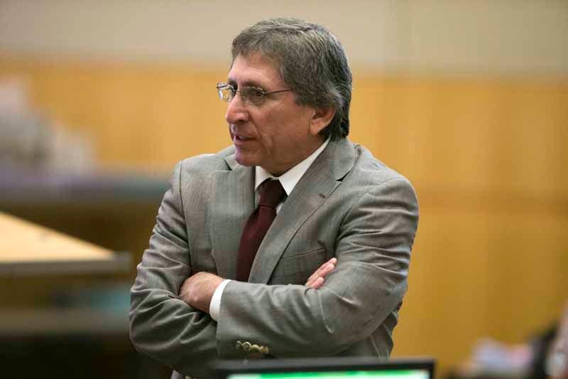 Prosecutor Juan Martinez questioned an IT expert in court on Dec. 4 ...