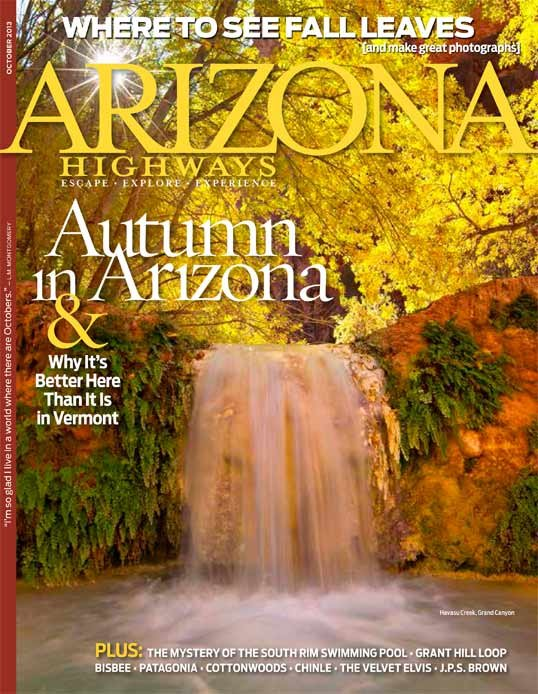 The Arizona Highways Magazine cover boasts an autumn season that might be better than that in Vermont. (Source: Arizona Highways Magazine)