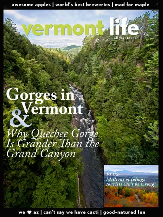 Vermont countered with its own cover message, challenging the Arizona Highways cover. (Source: Vermont Life)
