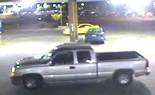 The suspects were seen leaving in this Chevrolet pickup truck. (Source: Silent Witness)