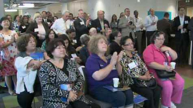 The grand opening was held on Friday. (Source: CBS 5 News)