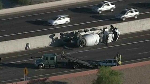 Concrete trucks cause delays on freeways in mesa arizona for Red mountain motors mesa az