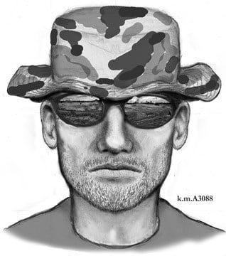 Phoenix police say a man matching this sketch is one of two men believed responsible for at least 21 armed robberies at north Valley pharmacies. (Source: Phoenix Police Department)