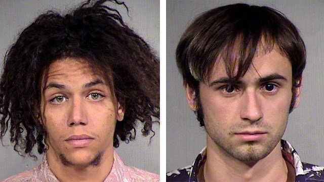 Talon Verdugo, left, and Alexander Homyak, were arrested Monday after an accomplice of theirs was shot and killed during an assault over the weekend. (Source: Maricopa County Sheriff's Office)