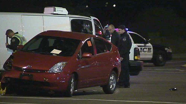 A 44-year-old man died after his motorcycle collided with this Toyota Prius at a Mesa intersection Wednesday night. (Source: CBS 5 News)