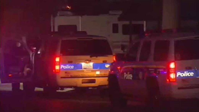 Phoenix police investigate the scene of a double stabbing early Monday morning. (Source: CBS 5 News)