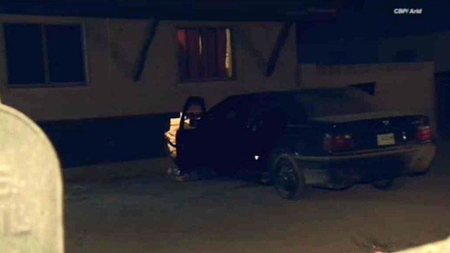 The driver of this car was taken into custody after it slammed into a Phoenix house, just missing a young girl Sunday night. (Source: CBS 5 News)