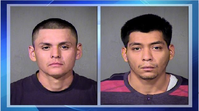 Joseph Jessie Corrales, 23, left, and Robert Chavez, 22, are accused of beating 17-year-old Alexis Urbina-Ochoa to death in a robbery two months ago. (Source: Maricopa County Sheriff's Office)