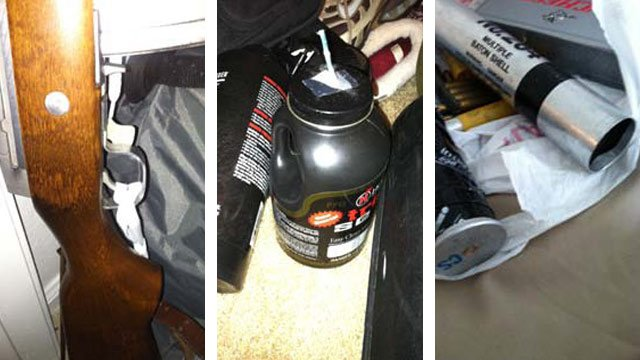 Weapons, explosives, rocket-propelled grenades and other items were found in a San Tan Valley home occupied by a convicted felon and his mother. (Source: Pinal County Sheriff's Office)