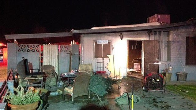 Everyone was able to escape safely, although one child suffered a minor burn. (Source: Phoenix Fire Department)