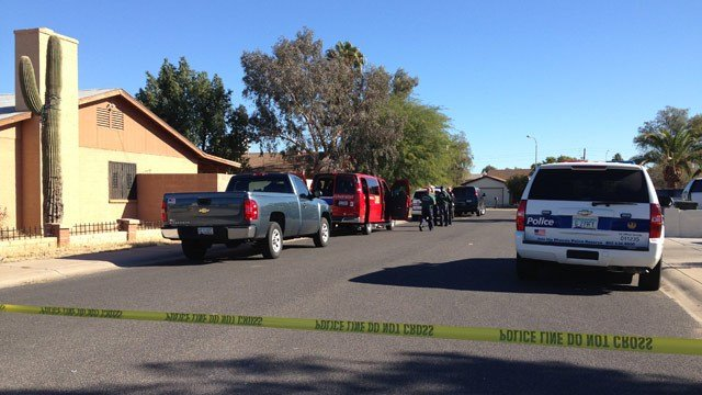 Phoenix police say a man killed his wife and then shot himself to death Wednesday morning. (Source: CBS 5 News)