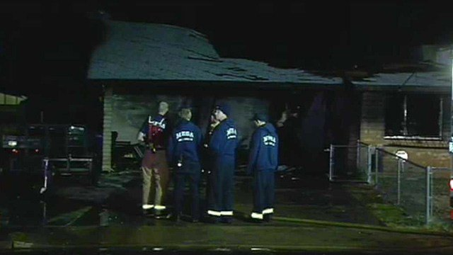 A fire at this Mesa home displaced three people. (Source: CBS 5 News)