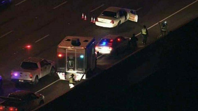 A police investigation causes delays on Loop 202 on Friday morning. (Source: CBS 5 News)