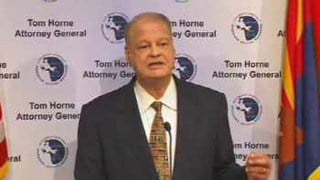 Arizona Attorney General Tom Horne. (Source: CBS 5 News)