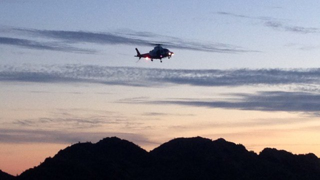 The hiker had to be flown to a waiting ambulance. (Source: Phoenix Fire Department)